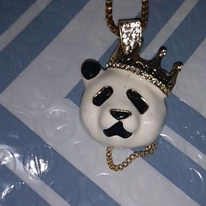 Other - Stainless steel panda pendant